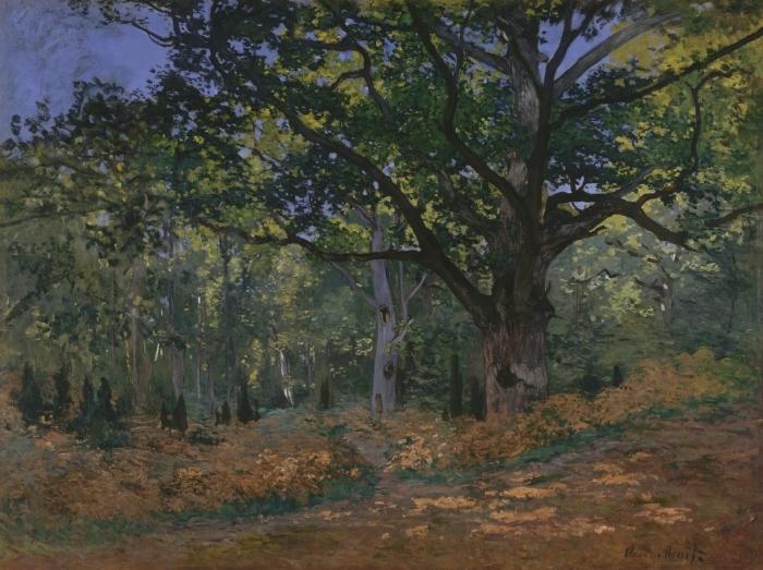 Naklejka Pixerstick Claude Monet - Dąb w okolicach Bas-Bréau - Reprodukcje