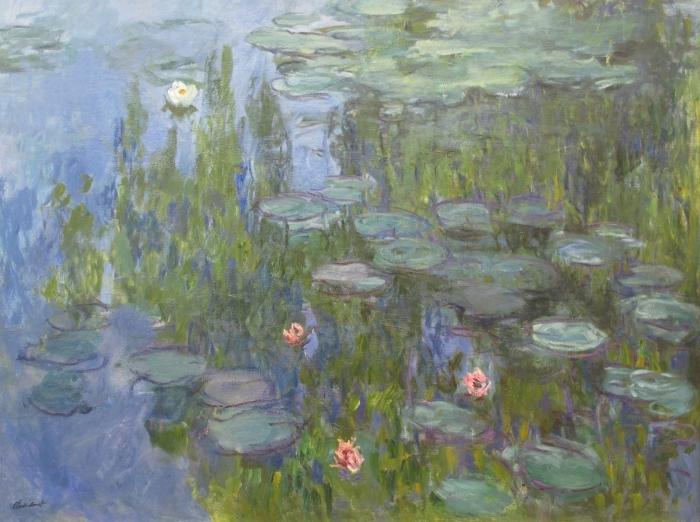 Pixerstick Aufkleber Claude Monet - Seerosen - Reproduktion
