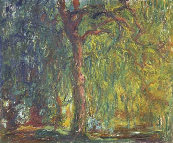 Papier peint vinyle Claude Monet - Saule pleureur - Reproductions