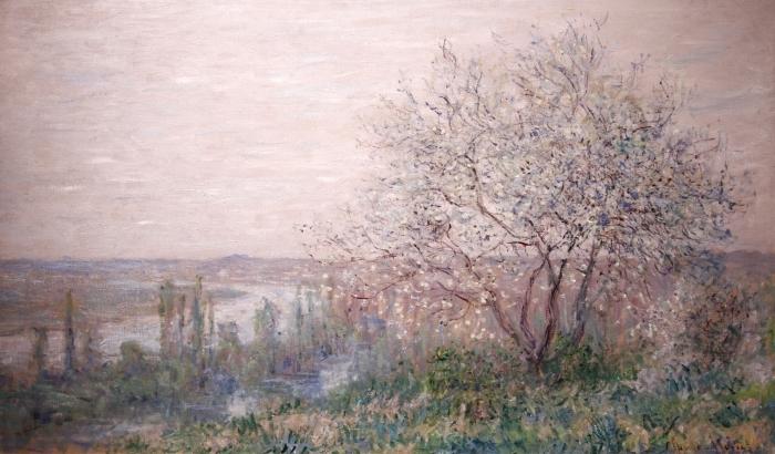 Pixerstick Aufkleber Claude Monet - Frühling - Reproduktion