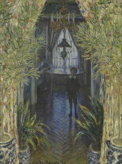 Pixerstick Aufkleber Claude Monet - Einblick in eine Wohnung - Reproduktion