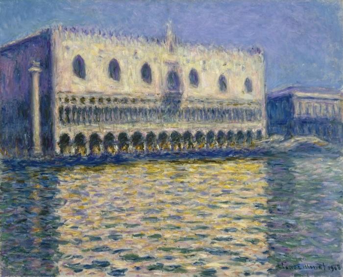 Pixerstick Aufkleber Claude Monet - Der Dogenpalast in Venedig - Reproduktion