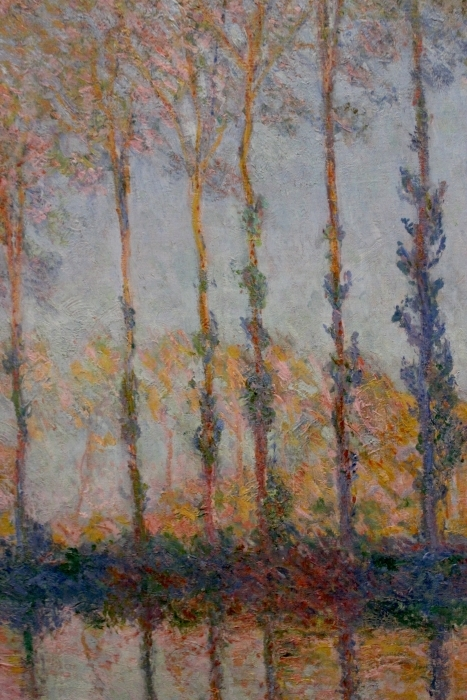 Claude Monet - Poppelit on pankit Epte Pixerstick tarra -