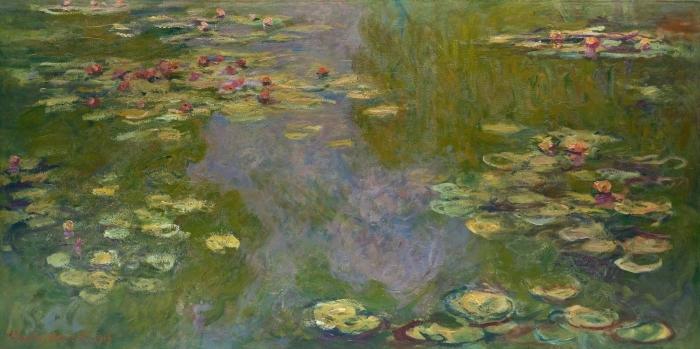 Pixerstick Aufkleber Claude Monet - Der Seerosenteich - Reproduktion