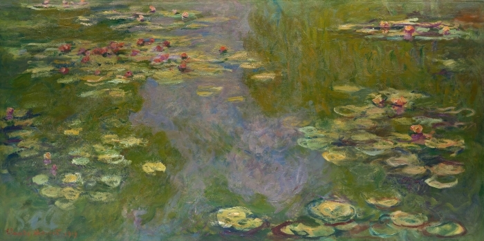 Claude Monet - Waterlily Pond Vinyyli valokuvatapetti -