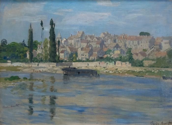 Papier peint vinyle Claude Monet - Carrières-Saint-Denis - Reproductions