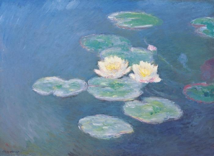 Claude Monet - Waterlilies Vinyl Wall Mural - Reproductions