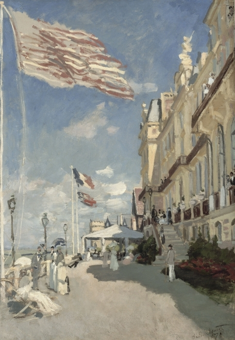 Naklejka Pixerstick Claude Monet - Hotel Roches Noires w Trouville - Reprodukcje