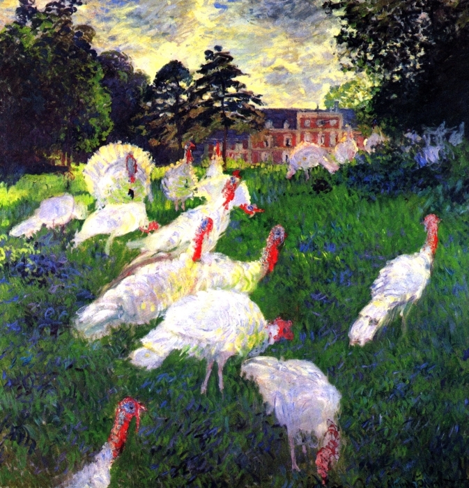 Claude Monet - The Turkeys at Chateau de Rottembourg Pixerstick Sticker - Reproductions