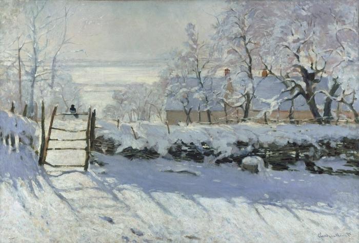Papier peint vinyle Claude Monet - la Magpie - Reproductions