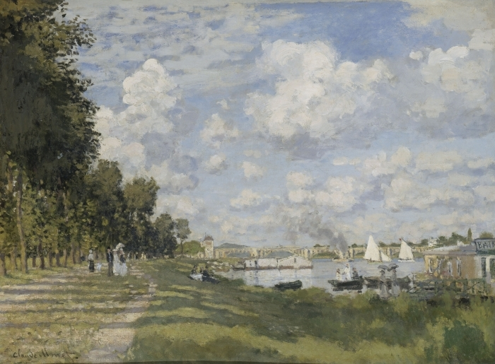 Naklejka Pixerstick Claude Monet - Przystań w Argenteuil - Reprodukcje