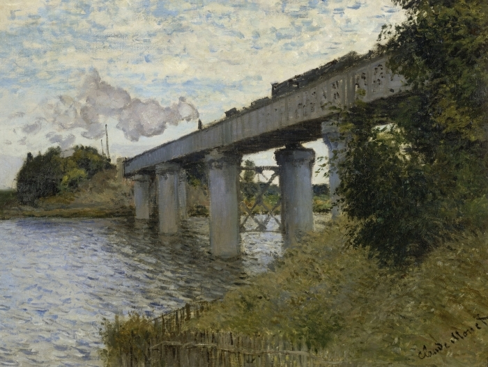 Naklejka Pixerstick Claude Monet - Most kolejowy w Argenteuil - Reprodukcje