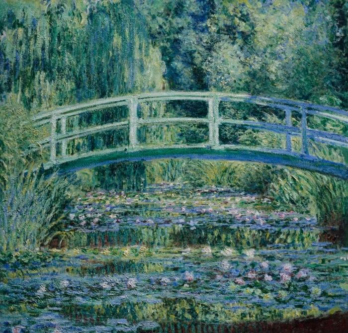 Nálepka na sklo a okna Claude Monet - Bílé Waterlilies - Reprodukce