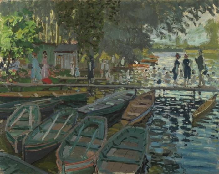 Selbstklebende Fototapete Claude Monet - Badende in La Grenouillère - Reproduktion