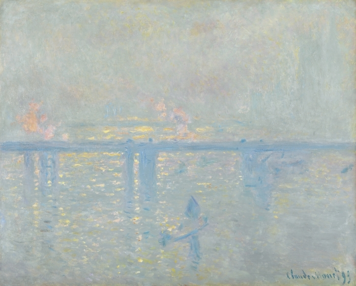 Pixerstick Aufkleber Claude Monet - Charing Cross Bridge, die Themse - Reproduktion