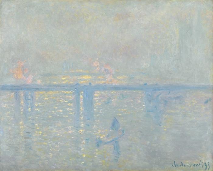 Vinil Duvar Resmi Claude Monet - Charing Cross Thames - Benzetiler