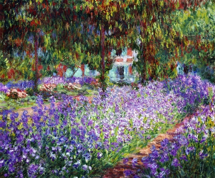 Claude Monet - The Artist's Garden at Giverny Pixerstick Sticker - Reproductions