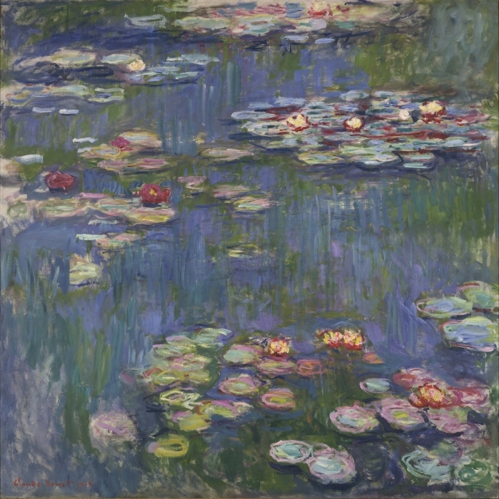 Claude Monet - Water Lilies Vinyl Wall Mural - Reproductions