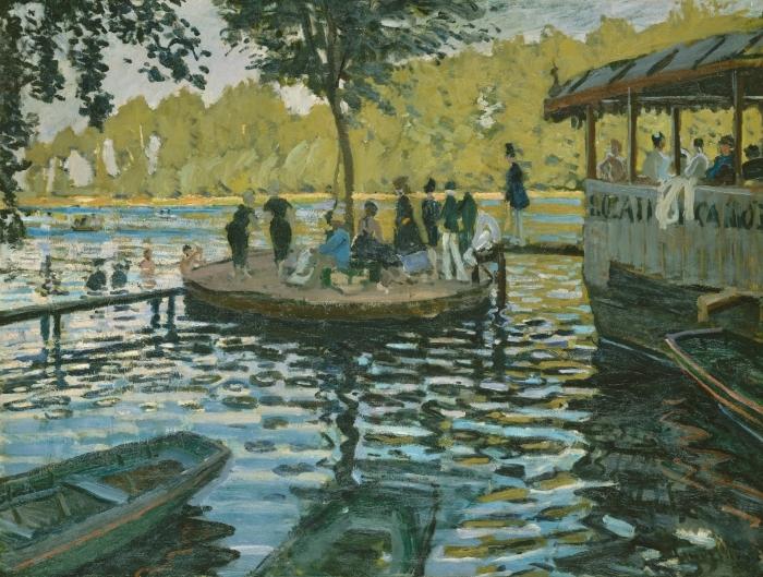 Pixerstick Aufkleber Claude Monet - La Grenouillère (Der Froschteich) - Reproduktion