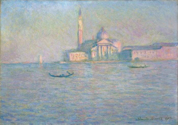 Papier peint vinyle Claude Monet - Saint-Georges-Majeur au crépuscule - Reproductions