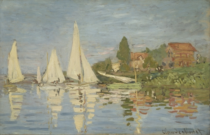 Pixerstick Aufkleber Claude Monet - Regatta in Argenteuil - Reproduktion