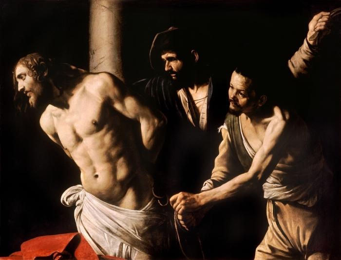 Pixerstick Sticker Caravaggio - De geseling van Christus - Reproductions