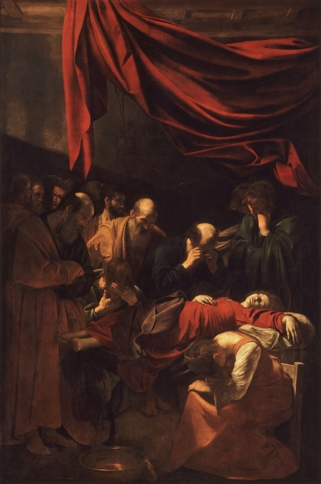 Pixerstick Aufkleber Caravaggio - Der Tod der Jungfrau - Reproductions