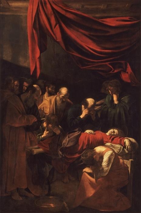 Papier peint vinyle Le Caravage - La Mort de la Vierge - Reproductions