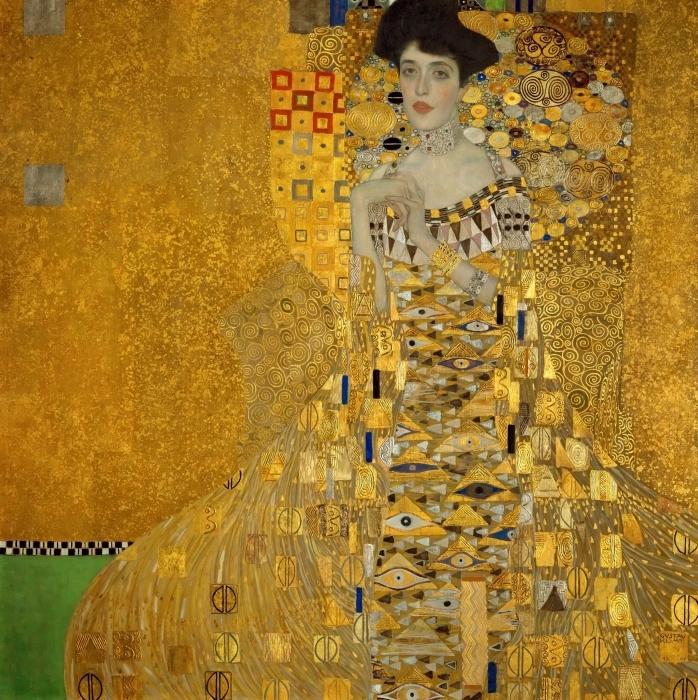 Naklejka Pixerstick Gustav Klimt - Portret Adele Bloch-Bauer - Reprodukcje