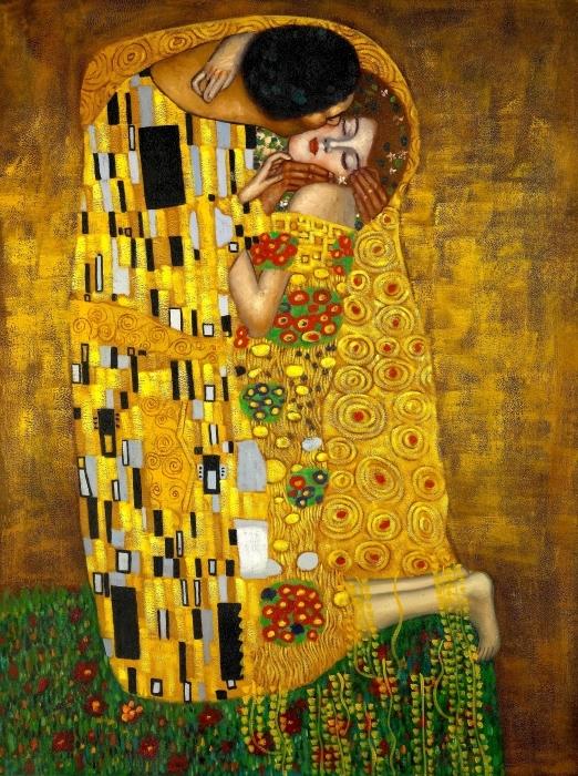 Naklejka Pixerstick Gustav Klimt - Pocałunek - Reprodukcje
