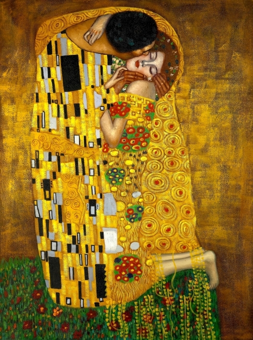 Sticker Pixerstick Gustav Klimt - Le Baiser - Reproductions