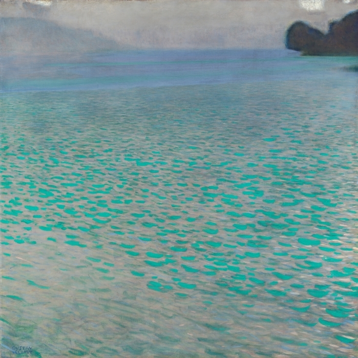 Naklejka Pixerstick Gustav Klimt - Jezioro Attersee - Reprodukcje