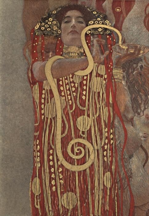 Sticker Pixerstick Gustav Klimt - Hygiea - Reproductions