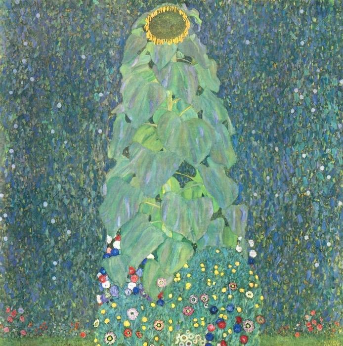 Pixerstick Sticker Gustav Klimt - Zonnebloem - Reproducties