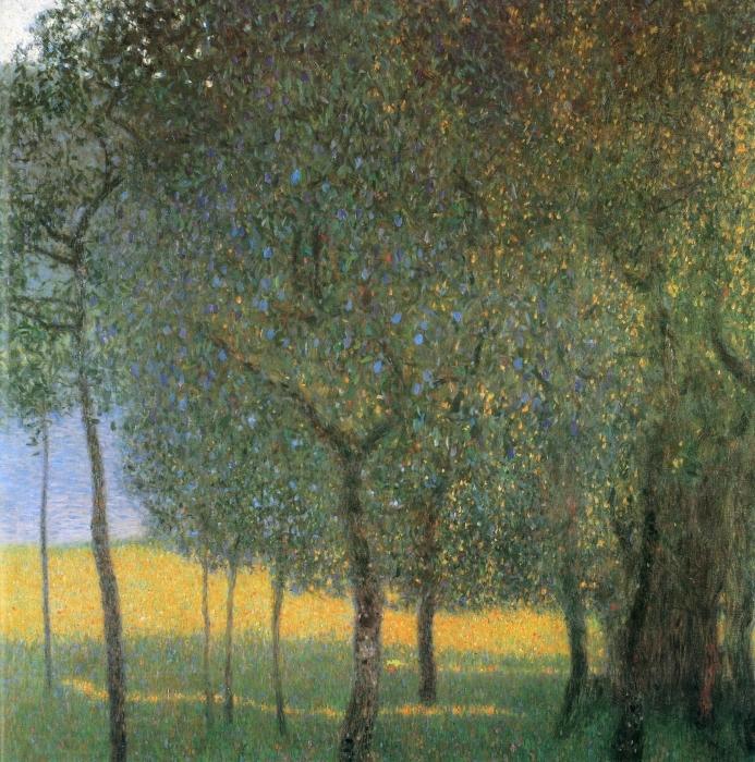 Vinyl Fotobehang Gustav Klimt - Fruitbomen in Attersee - Reproducties