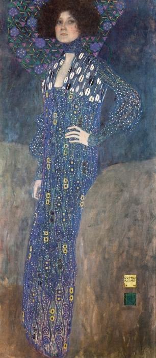 Papier peint vinyle Gustav Klimt - Portrait d'Emilie Flöge - Reproductions
