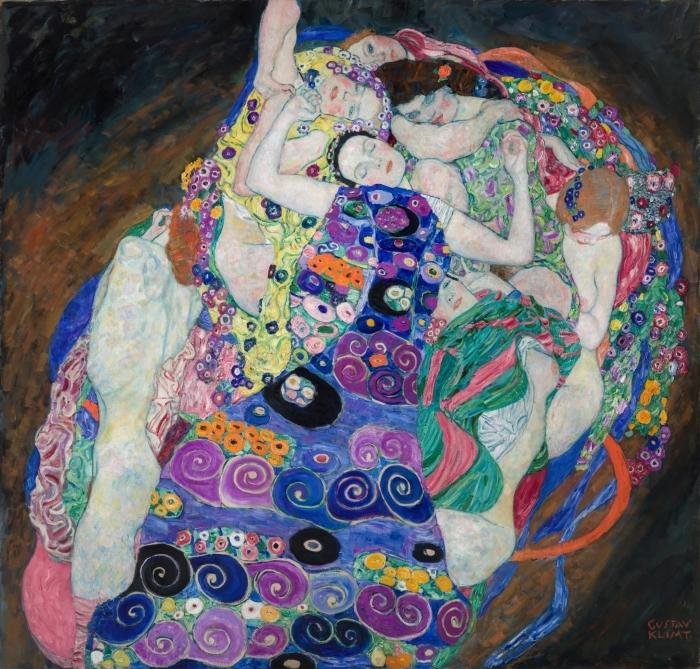 Naklejka Pixerstick Gustav Klimt - Dziewica - Reprodukcje