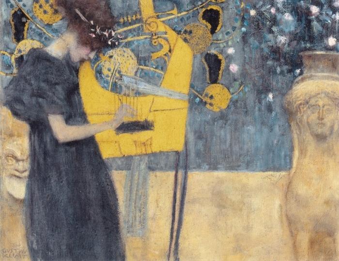 Pixerstick Aufkleber Gustav Klimt - Die Musik - Reproduktion