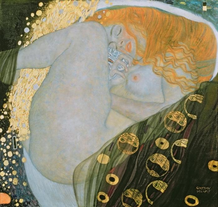 Sticker Pixerstick Gustav Klimt - Danaé - Reproductions