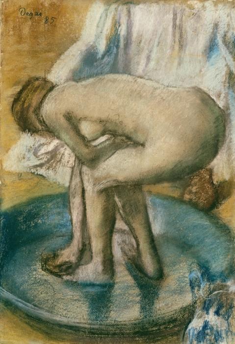 Papier peint vinyle Edgar Degas - Le Tub - Reproductions
