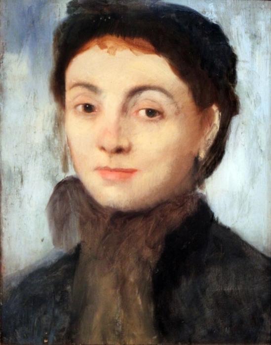 Naklejka Pixerstick Edgar Degas - Portret Josephiny Gaujelin - Reprodukcje