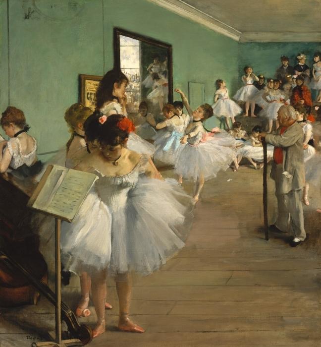 Papier peint vinyle Edgar Degas - La Classe de danse - Reproductions