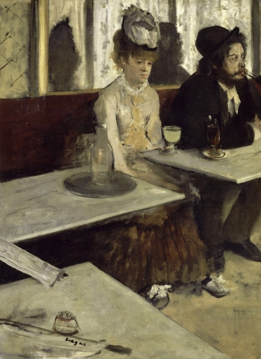 Edgar Degas - Absinthe Pixerstick Sticker - Reproductions