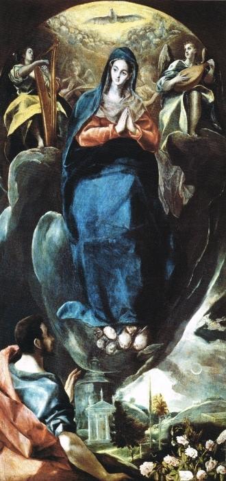 Pixerstick Aufkleber El Greco - Inmaculada Concepción (Unbefleckte Empfängnis) - Reproduktion