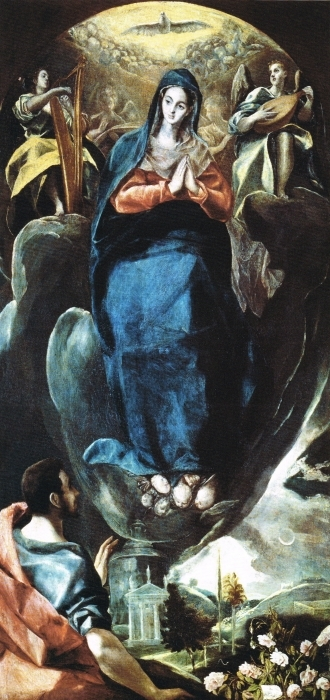Papier peint vinyle Le Greco - Maria Immaculata - Reproductions