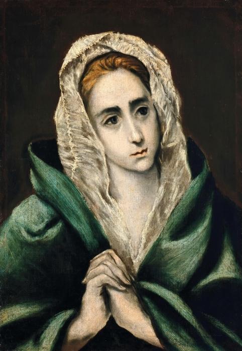 Pixerstick Aufkleber El Greco - Mater Dolorosa - Reproduktion