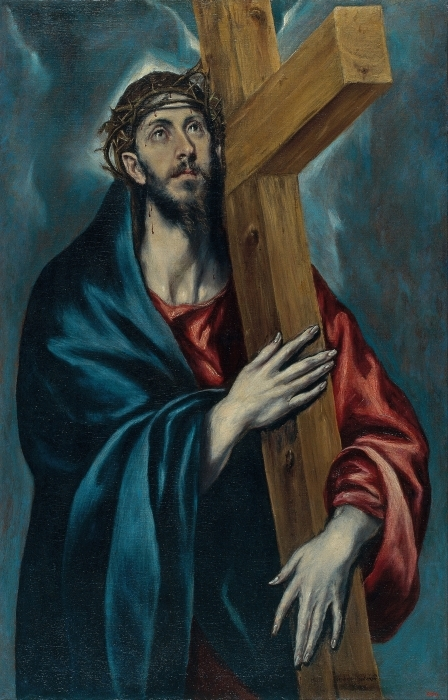 Papier peint vinyle Le Greco - Le Christ portant la Croix - Reproductions