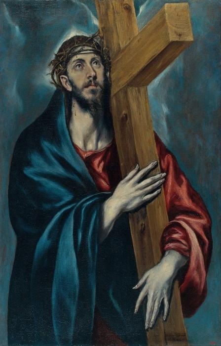 Vinilo Pixerstick El Greco - Cristo con la cruz - Reproducciones