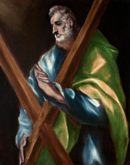 Pixerstick Aufkleber El Greco - Apostel Andreas - Reproduktion