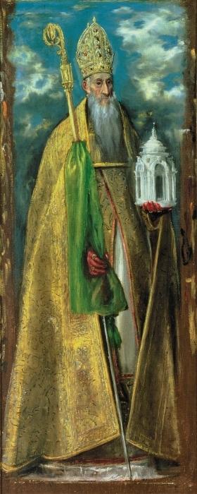 Pixerstick Aufkleber El Greco - Der heilige Augustinus - Reproduktion